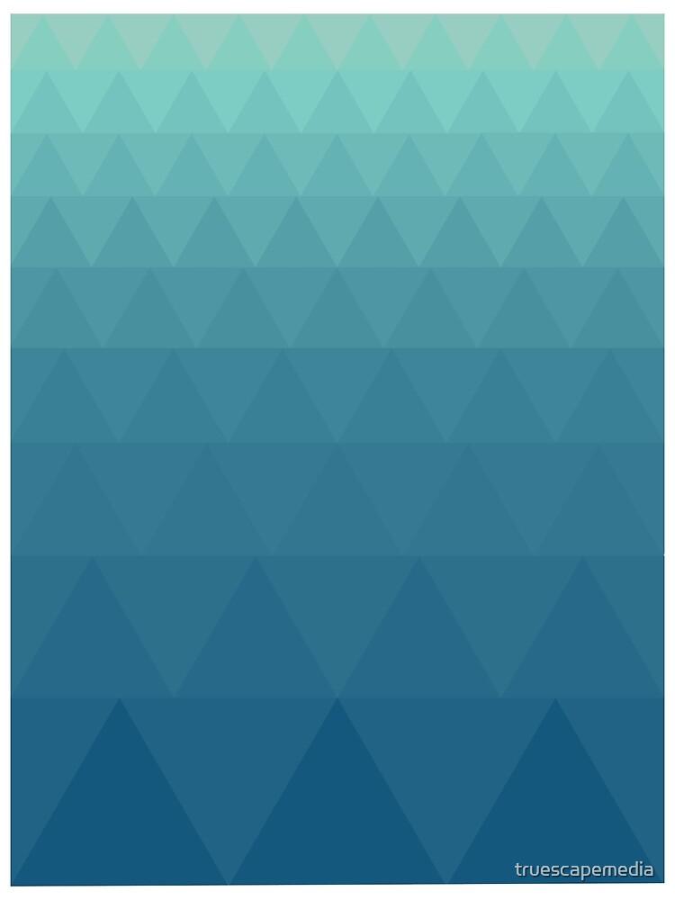 Aqua Triangles by truescapemedia