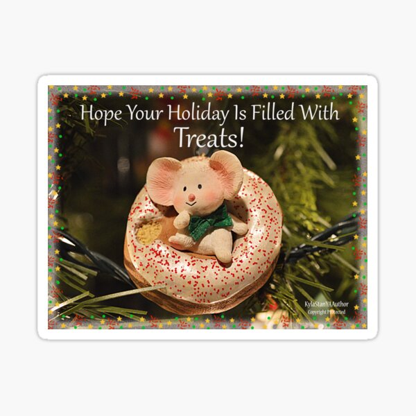 Holiday Mouse Sticker