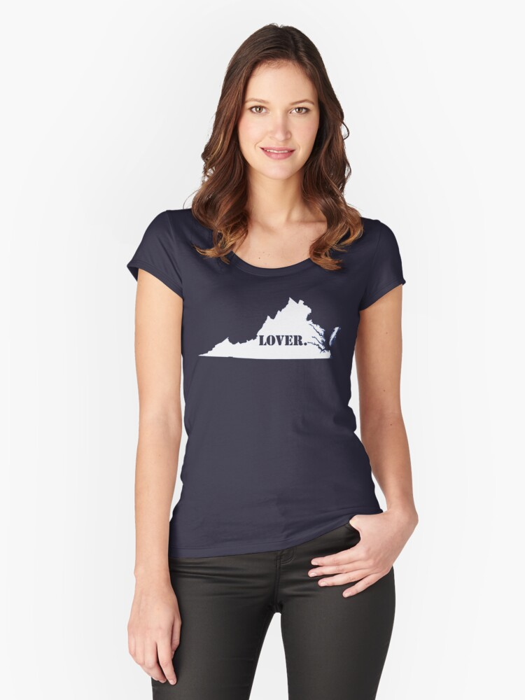 Virginia Lover Women's Fitted Scoop T-Shirt Front