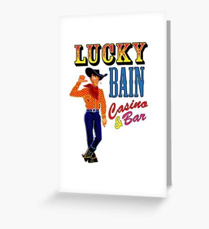 Lucky Bain Casino & Bar Greeting Card