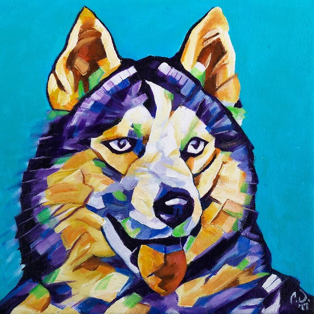 Pop Art Husky by camerondixon