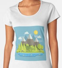 Mountain Landscape Women's Premium T-Shirt
