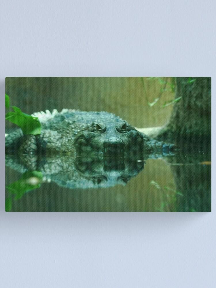 Alternate view of Mr. Croc Canvas Print