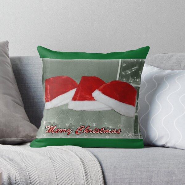 Santa Hats Throw Pillow
