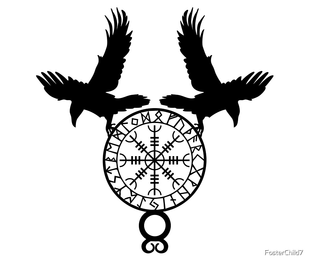 Norse Ravens - Helm of Awe by FosterChild7
