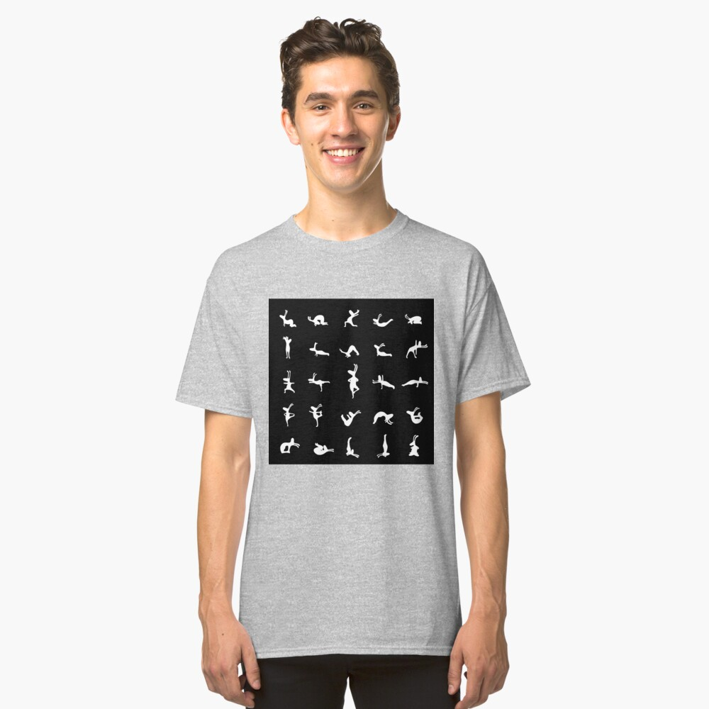 Yogi Bunnies Black and White Classic T-Shirt Front