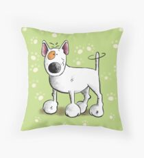 Funny Bull Terrier Dog  Throw Pillow