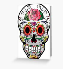 Sugar Skull w/no background 4 Greeting Card