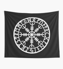 Norse - Helm of Awe White Wall Tapestry