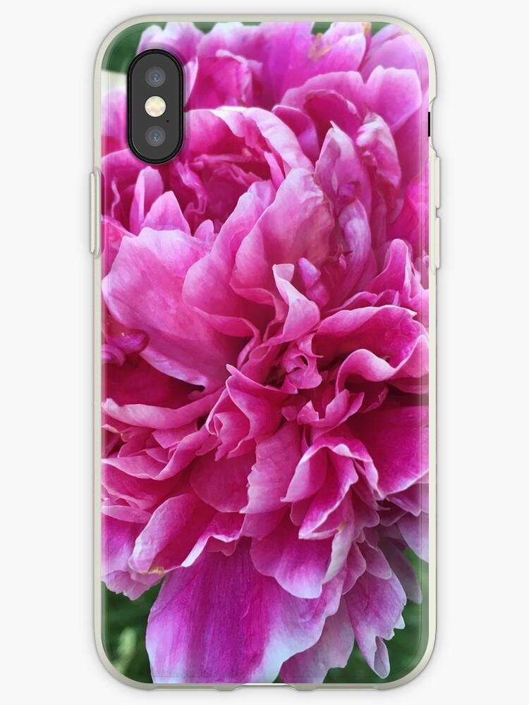 Pink Peony Flower by sabietoothtiger