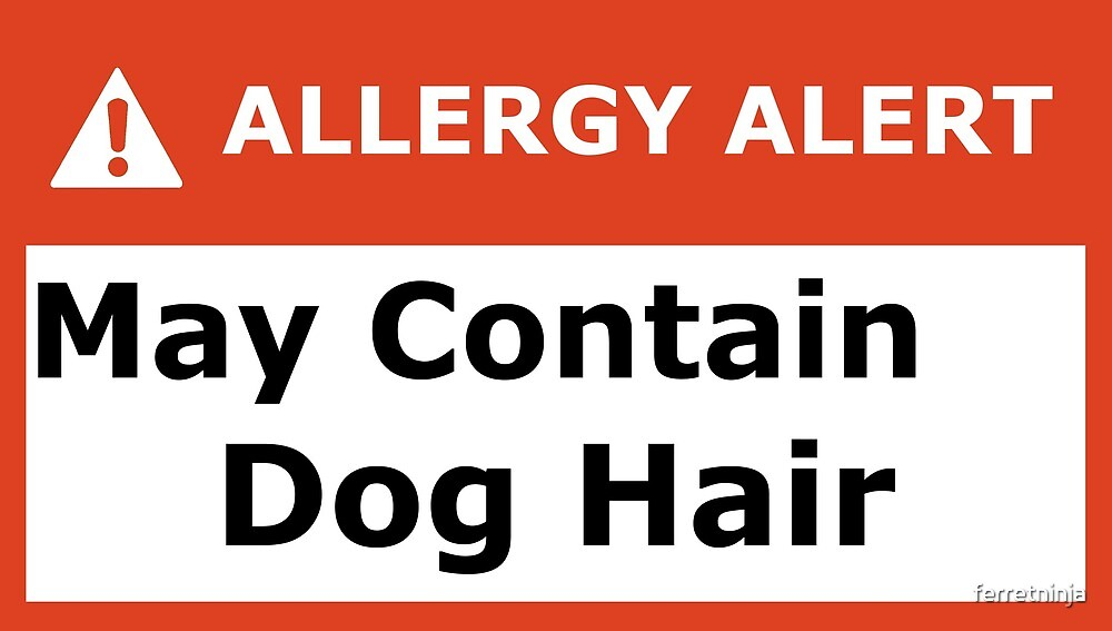 Allergy Alert: May contain dog hair. by ferretninja