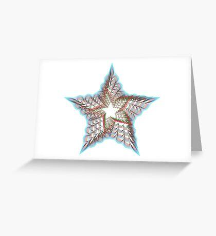 Guillochete star Greeting Card