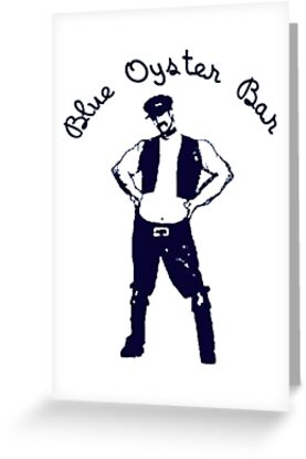 Blue Oyster Bar Police Academy Movie Greeting Cards By Sunset