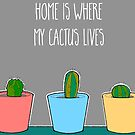 Home Is Where My Cactus Lives by Adam Regester