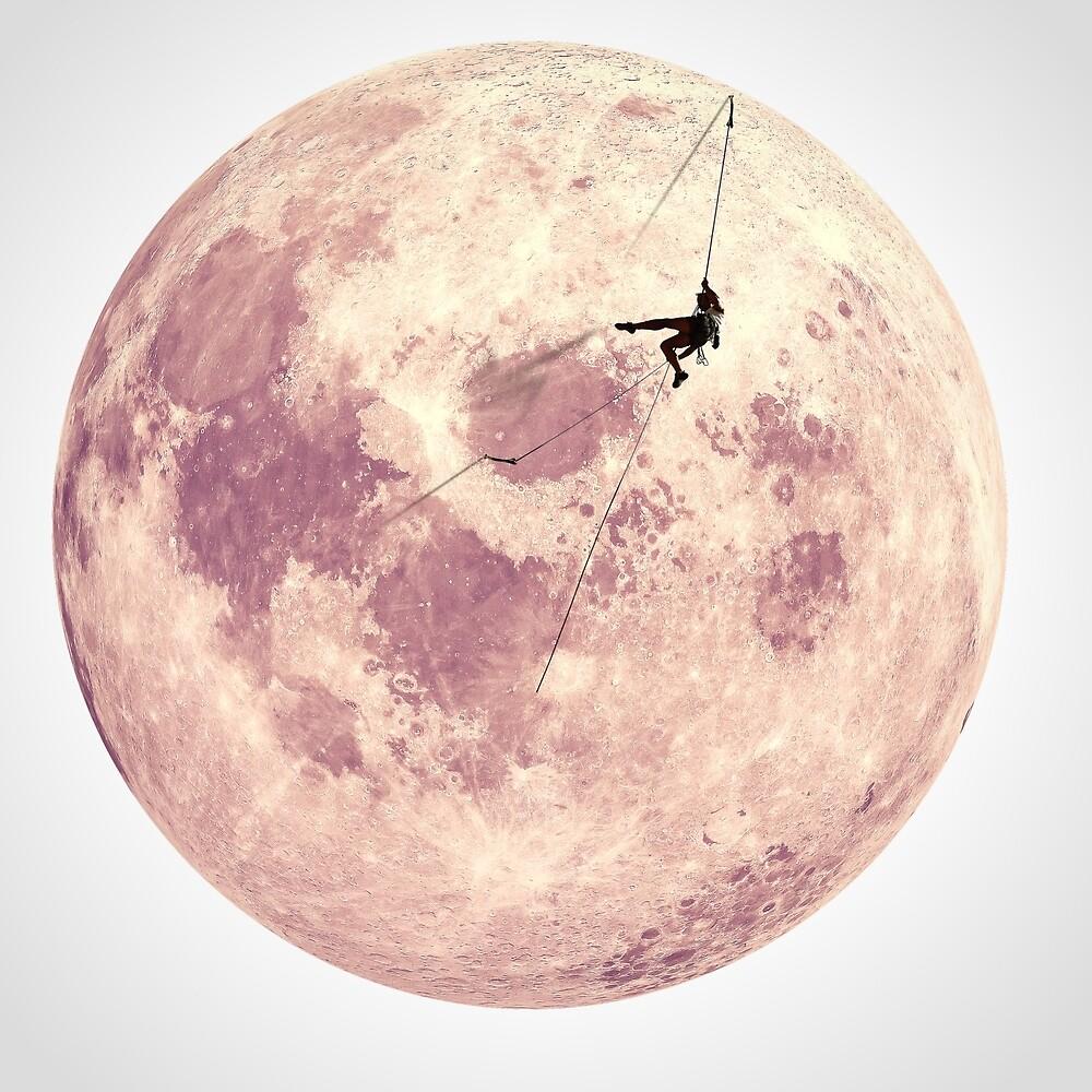 Pink Moon Climbing by Urania Verdi