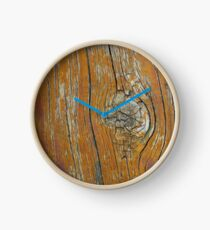 Wood Knot in Old Wood Clock