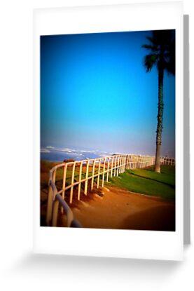 Blue Skies over Huntington by DesignsbyAngela