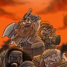 Dwarven Mercenaries by itsmidnight