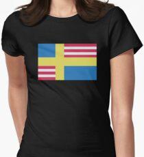 Sverige / USA Flag Women's Fitted T-Shirt
