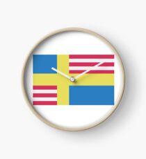 Sverige / USA Flag Clock