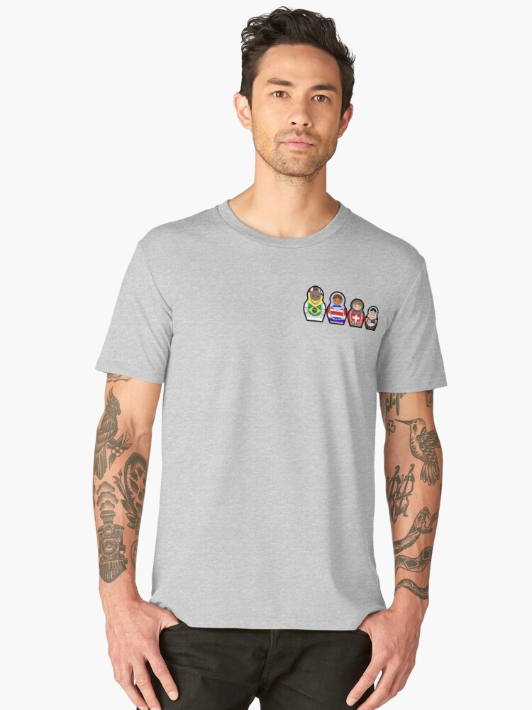 Matryoshka Group E - FIFA 2018 Men's Premium T-Shirt Front