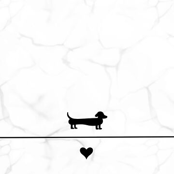 Black and marble dachshund love by LaurasLovelies