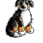 Happy Bernese Mountain Dog by modartis