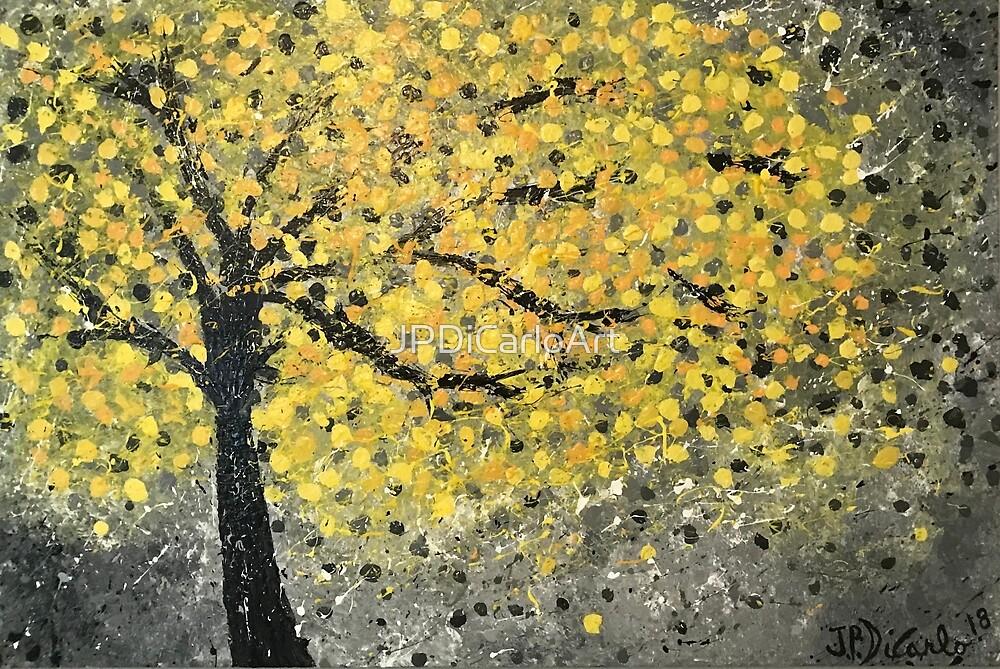 Fall Colored Splattered Tree by JPDiCarloArt