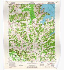 USGS TOPO Map Kentucky KY Briensburg 803360 1955 24000 Poster