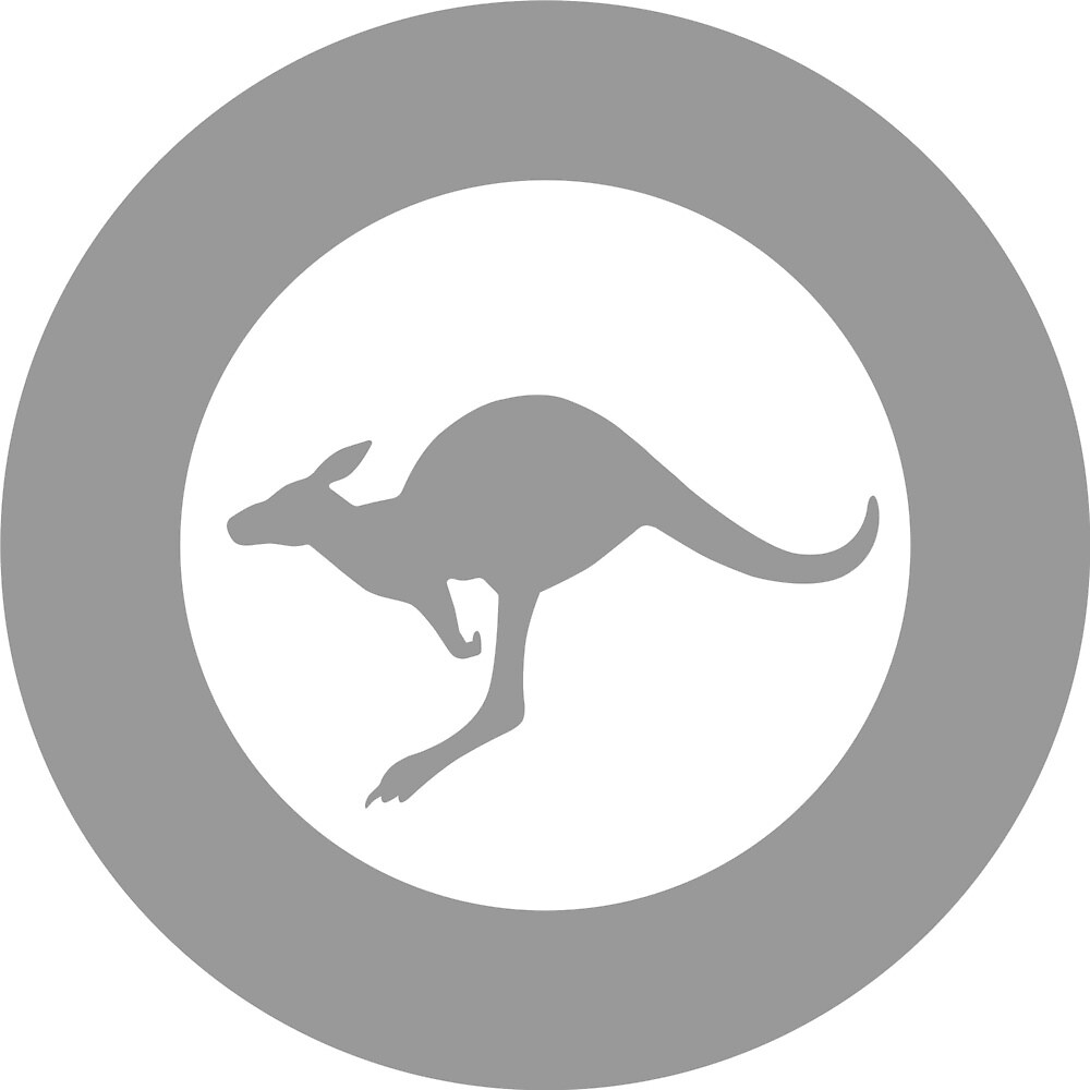 Low Visibility Roundel of the Australian Air Force by ofmany