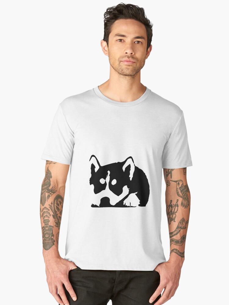 little husky dog tshirt for sell Men's Premium T-Shirt Front