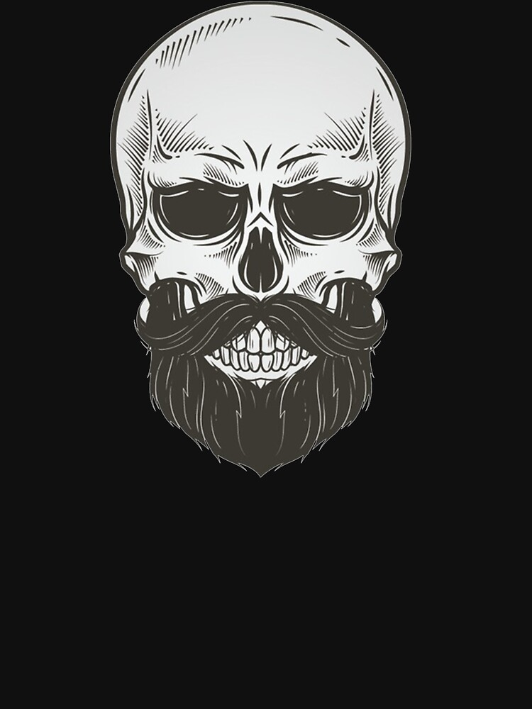 Skull with beard. by fantastic23