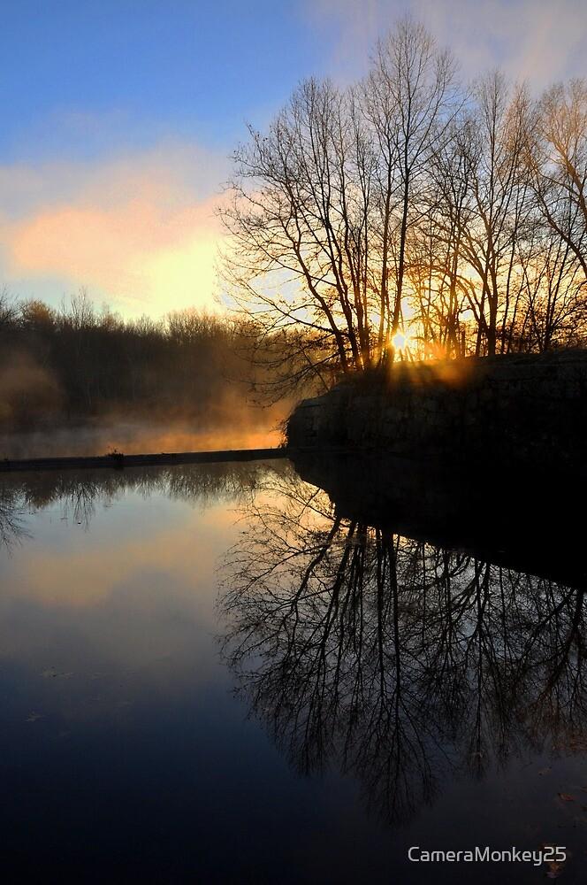 Misty Morning Reflection by CameraMonkey25