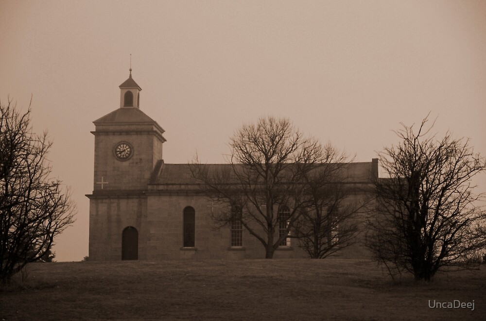 Church on the hill by UncaDeej