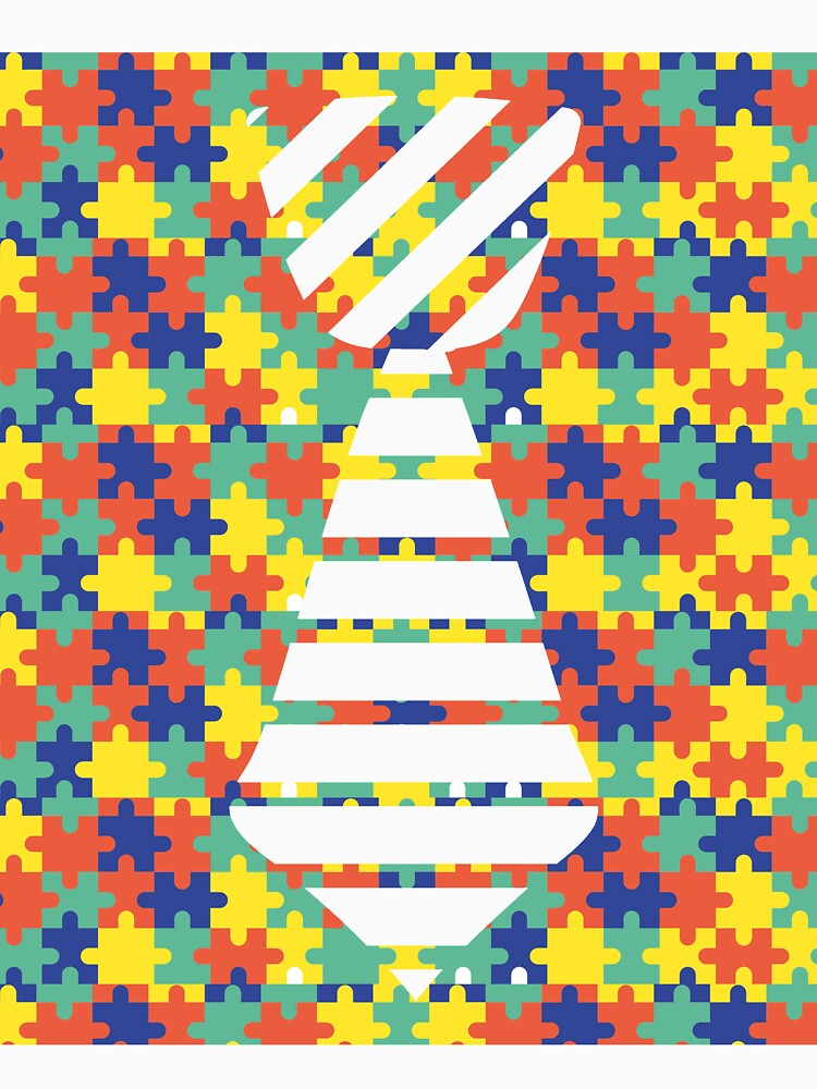 Necktie Autism Puzzle Shirt for Autism Awareness by CreativeStrike