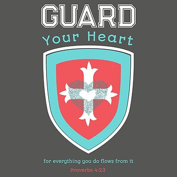 """""""Guard Your Heart"""" Bible verse design wall tapestry by Aerrie"""