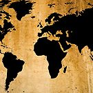 World Map by Roz Abellera Art Gallery