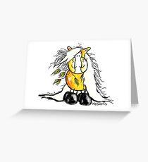 Cute Haflinger Horse Cartoon Greeting Card
