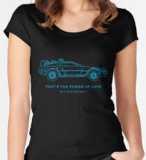 80's Sci-Fi Vehicle Series- BACK TO THE FUTURE Women's Fitted Scoop T-Shirt