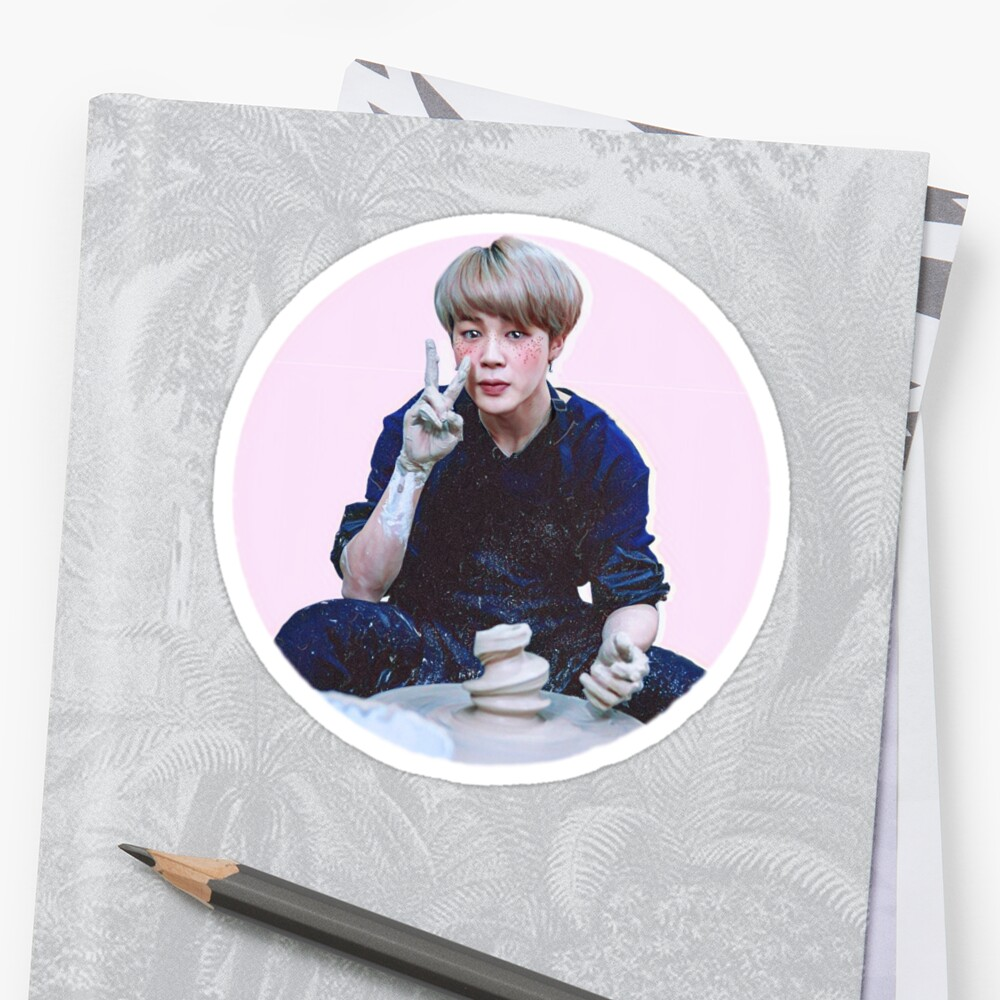 """""""Potted"""", Jimin Sticker by seuril"""