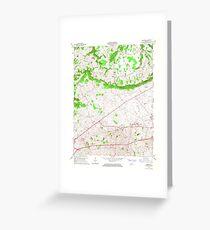 USGS TOPO Map Kentucky KY Bristow 708231 1965 24000 Greeting Card