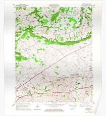 USGS TOPO Map Kentucky KY Bristow 708231 1965 24000 Poster