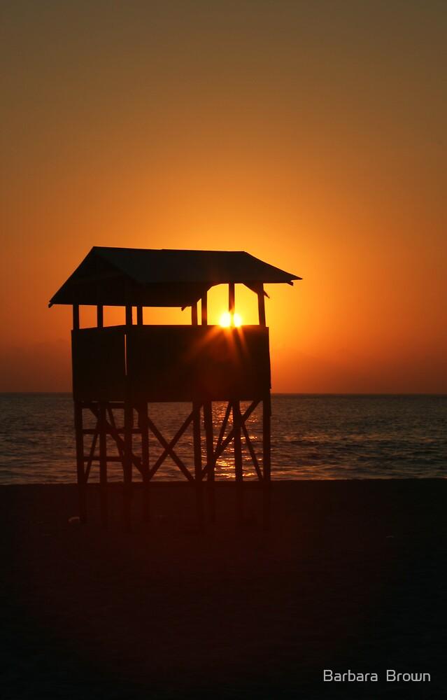 Evening on Playa Zicatela by Barbara  Brown