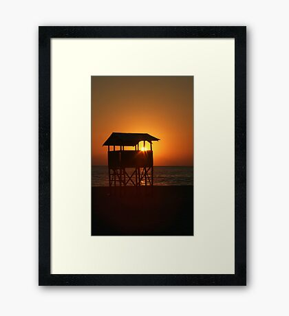 Evening on Playa Zicatela Framed Print
