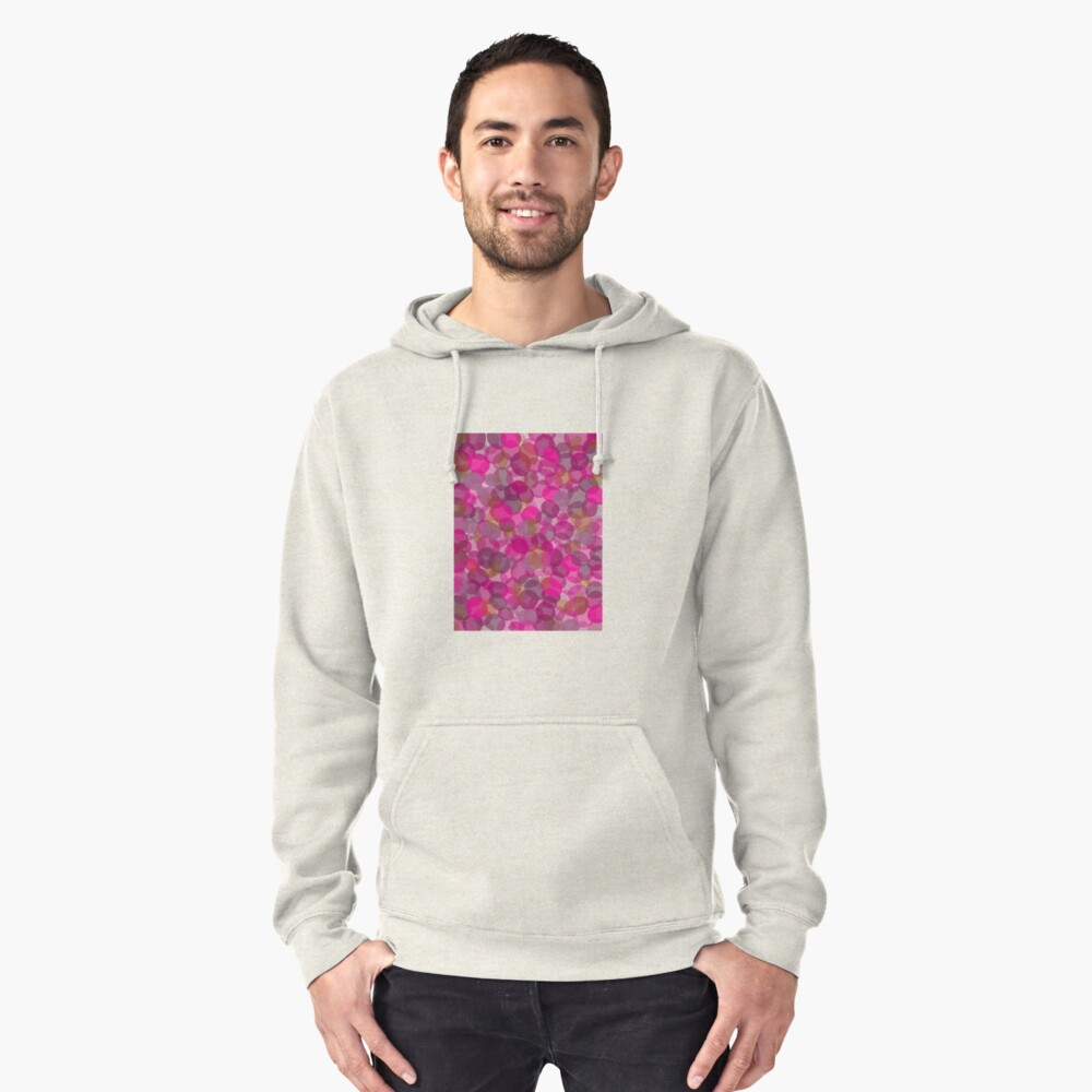 Fun pink pattern Pullover Hoodie Front