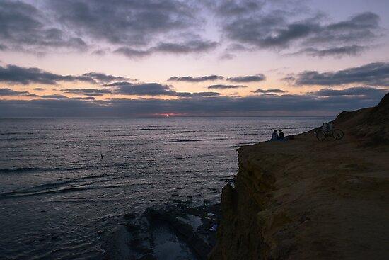 Sunset Cliffs, Ocean Beach, San Diego, California by Mike Kunes