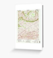 USGS TOPO Map Kentucky KY Bristow 803363 1965 24000 Greeting Card