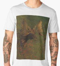 Vintage Painting of a Bull Moose  Men's Premium T-Shirt