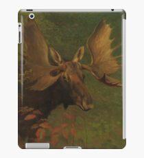 Vintage Painting of a Bull Moose  iPad Case/Skin