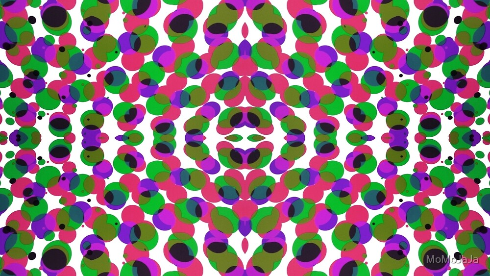 Psychedelic groovy multicoloured circles by MoMoJaJa